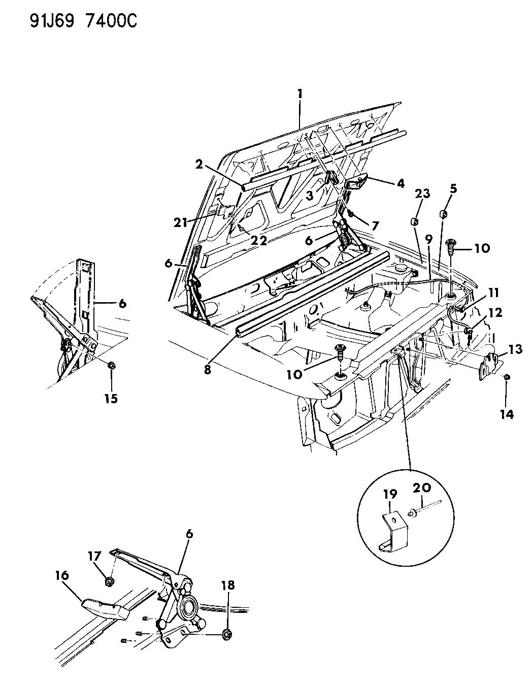 Jeep Cherokee Hood Latch Diagram Wiring Source Diagrams 55076109 On