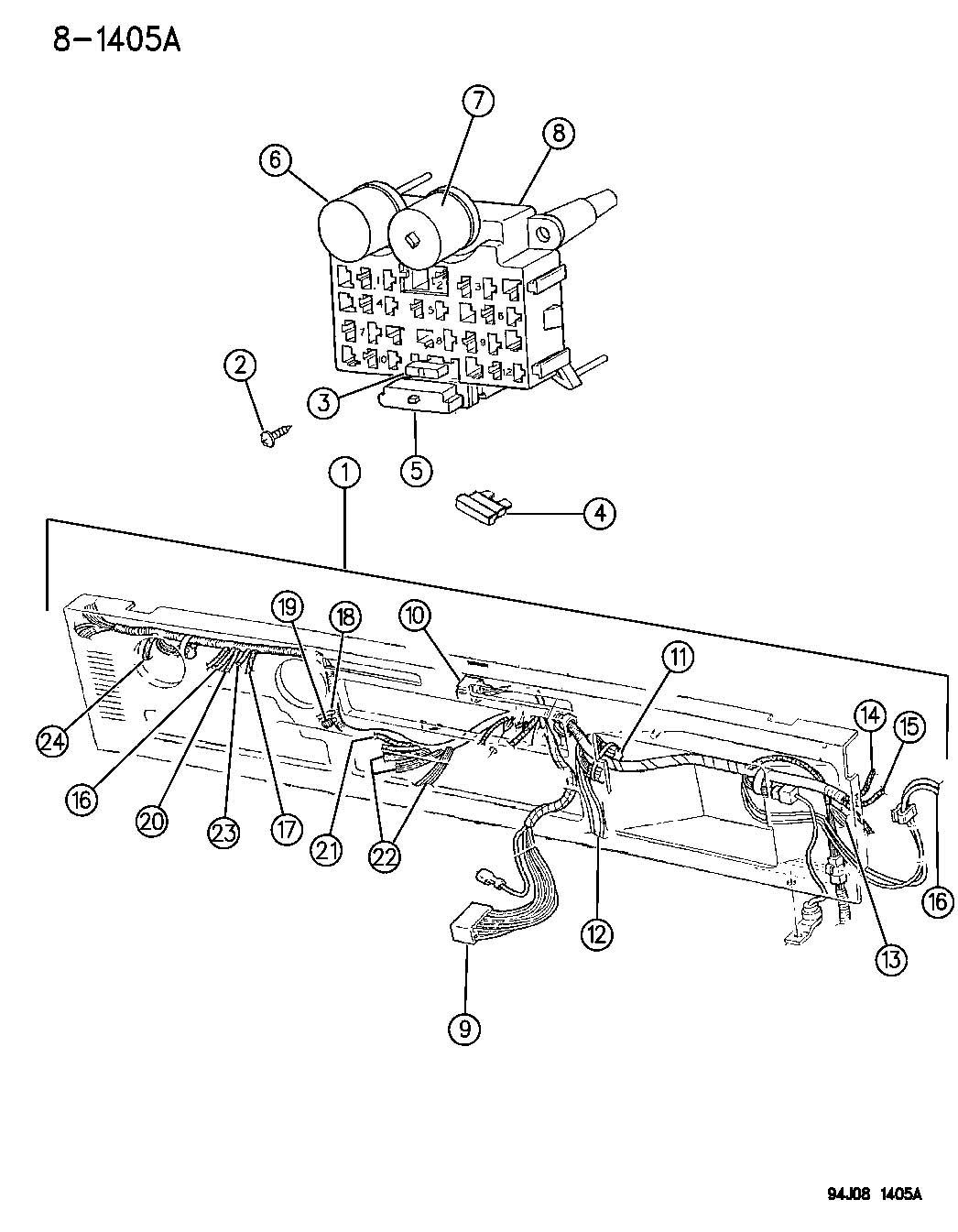 56001077 jeep buzzer warning panel wiring instrument. Black Bedroom Furniture Sets. Home Design Ideas