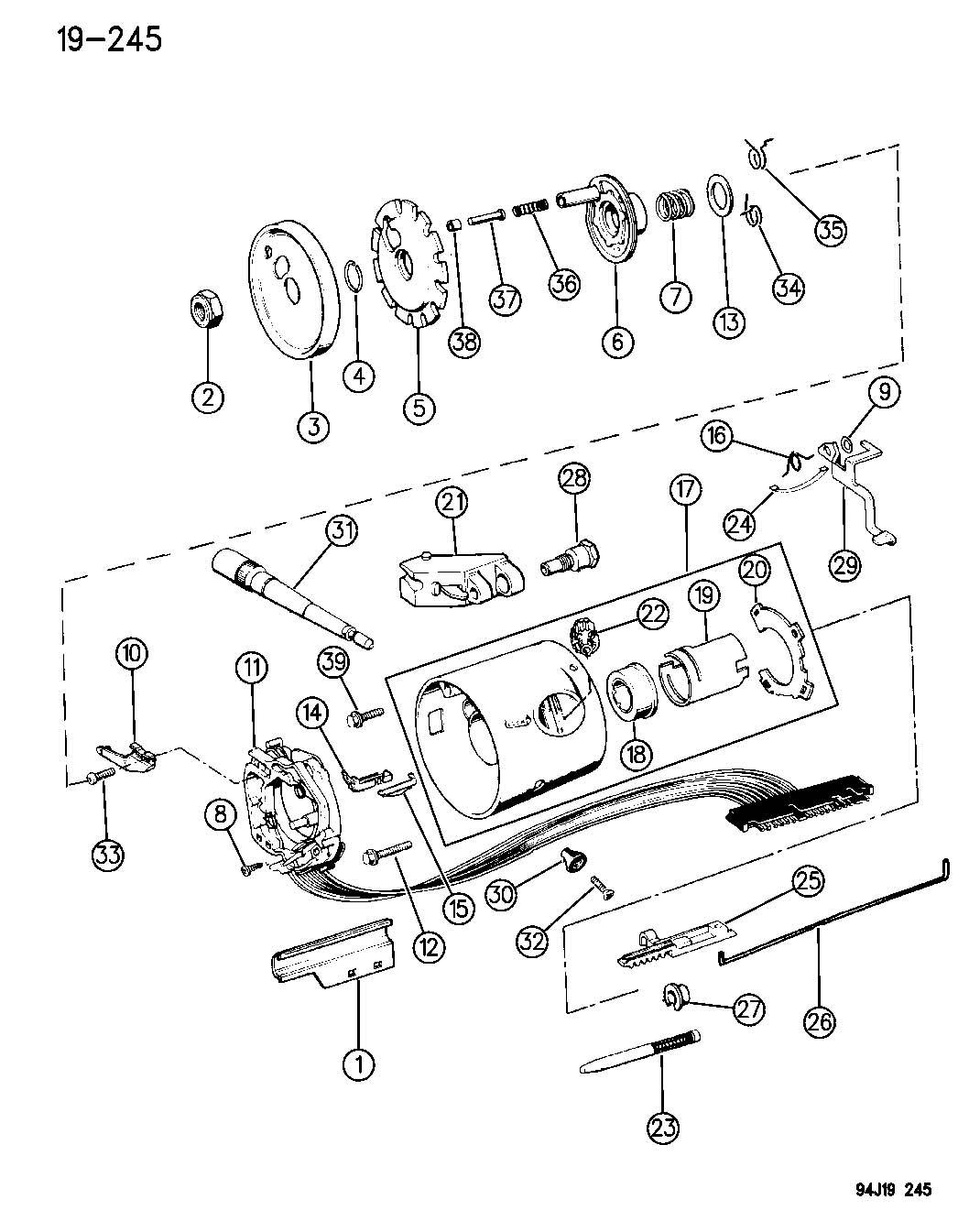 jeep tilt steering column diagram