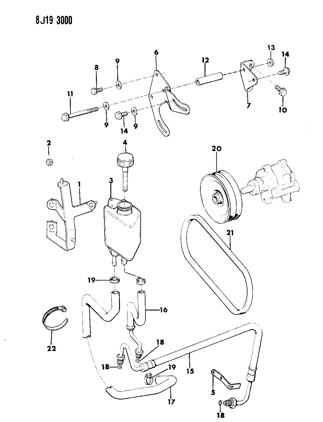 jeep comanche steering diagram