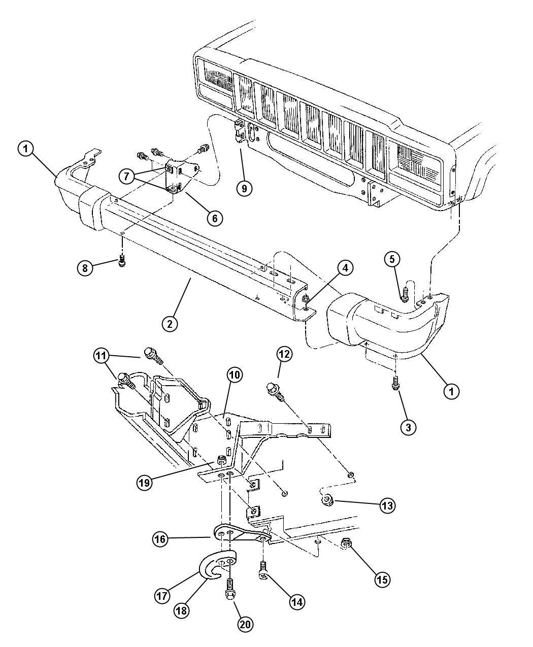 5ee85s3xad - jeep bar  bumper front