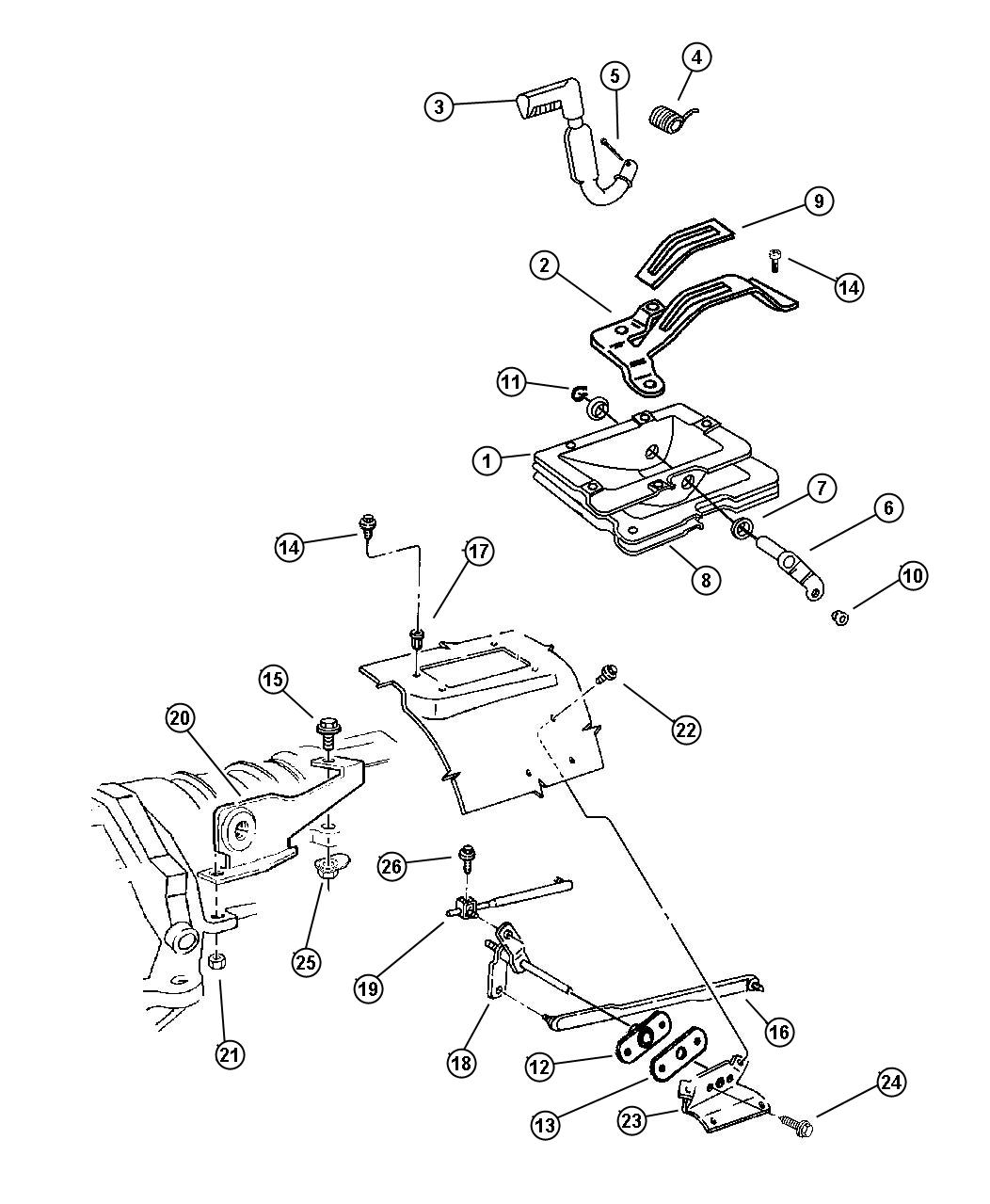 jeep 231 transfer case diagram