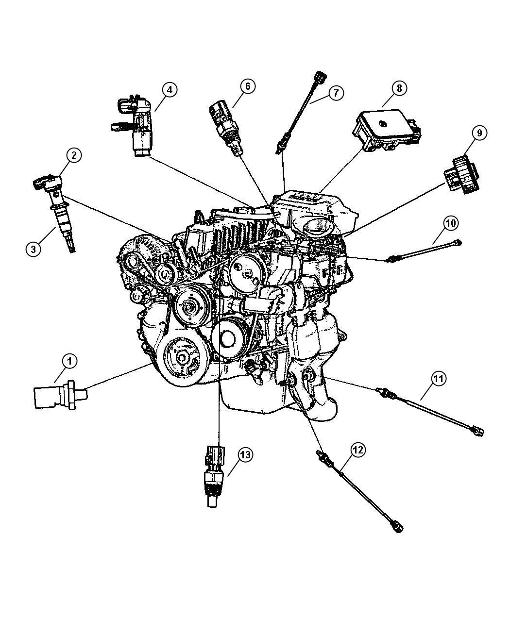 56044215AA - Jeep Sensor. Oxygen. Emissions, front ...
