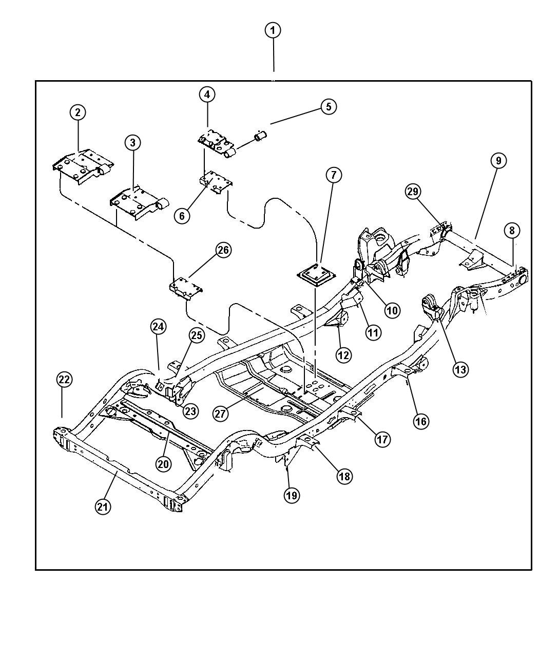 Jeep Wrangler Frame  Chassis   Engines