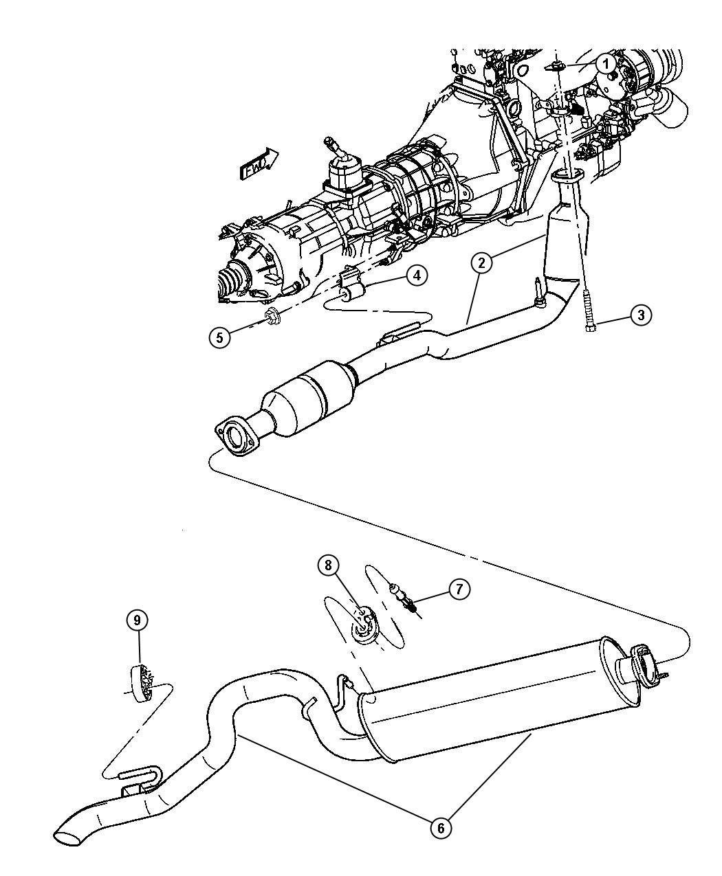52101120AD - Jeep Used for: MUFFLER AND TAILPIPE. Exhaust ...