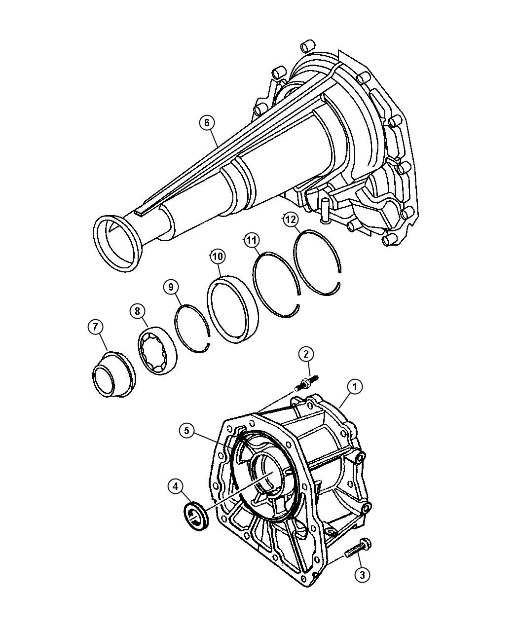 02466224 Jeep Bearing Rear Output Shaft Front