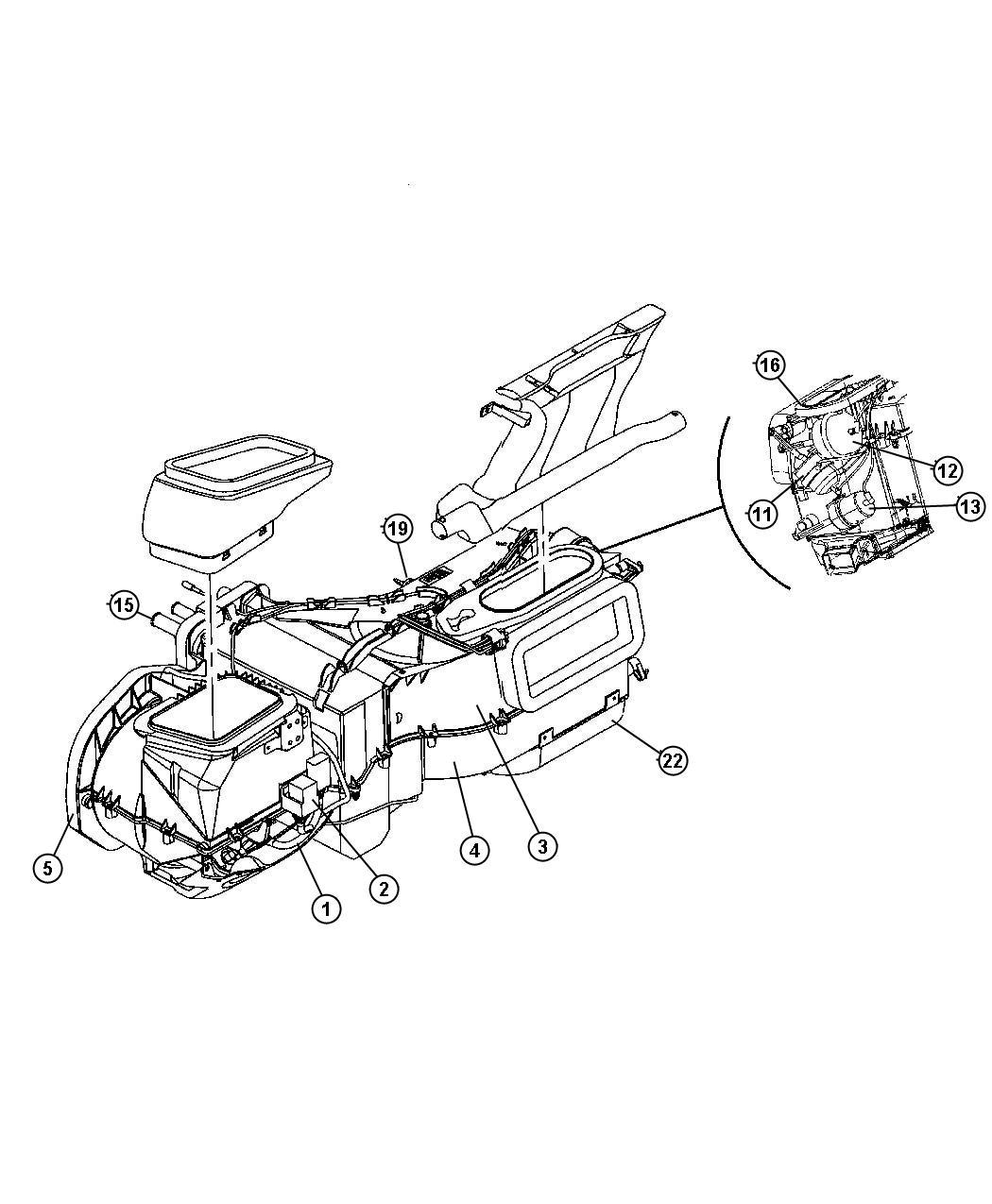 Jeep Wrangler Actuator  Egr Vacuum  Vacuum  Blend Door
