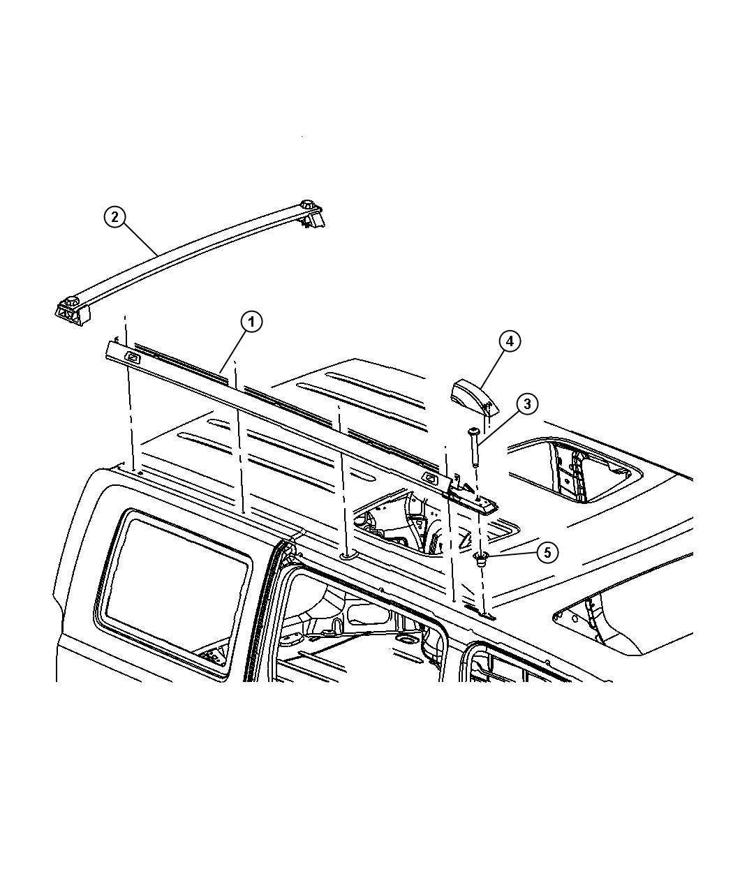 chrysler roof rack diagram