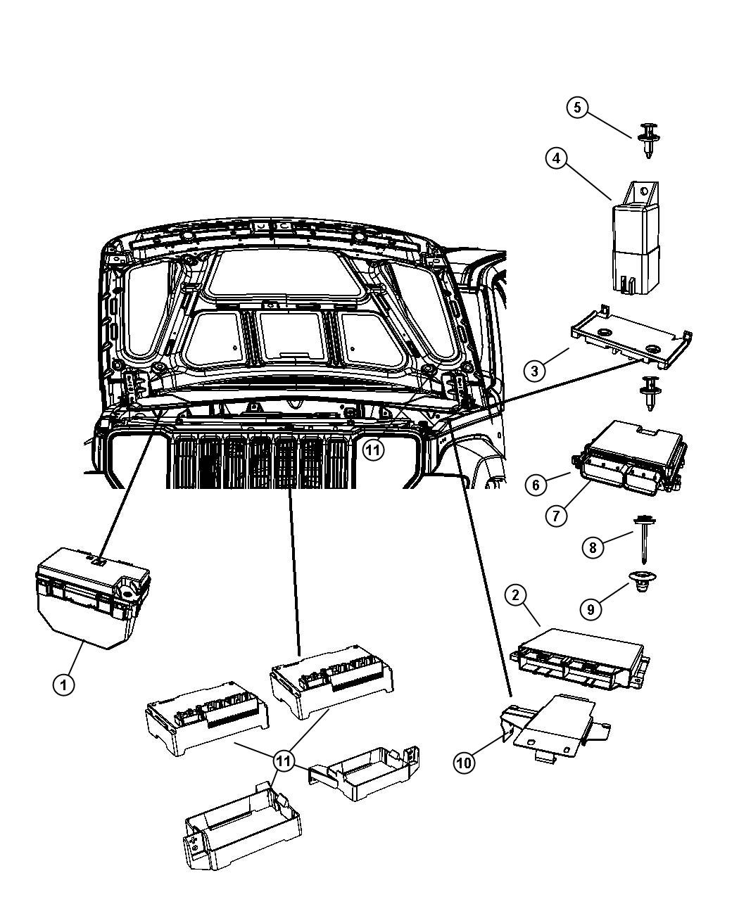 05094159ae jeep module powertrain control engine. Black Bedroom Furniture Sets. Home Design Ideas