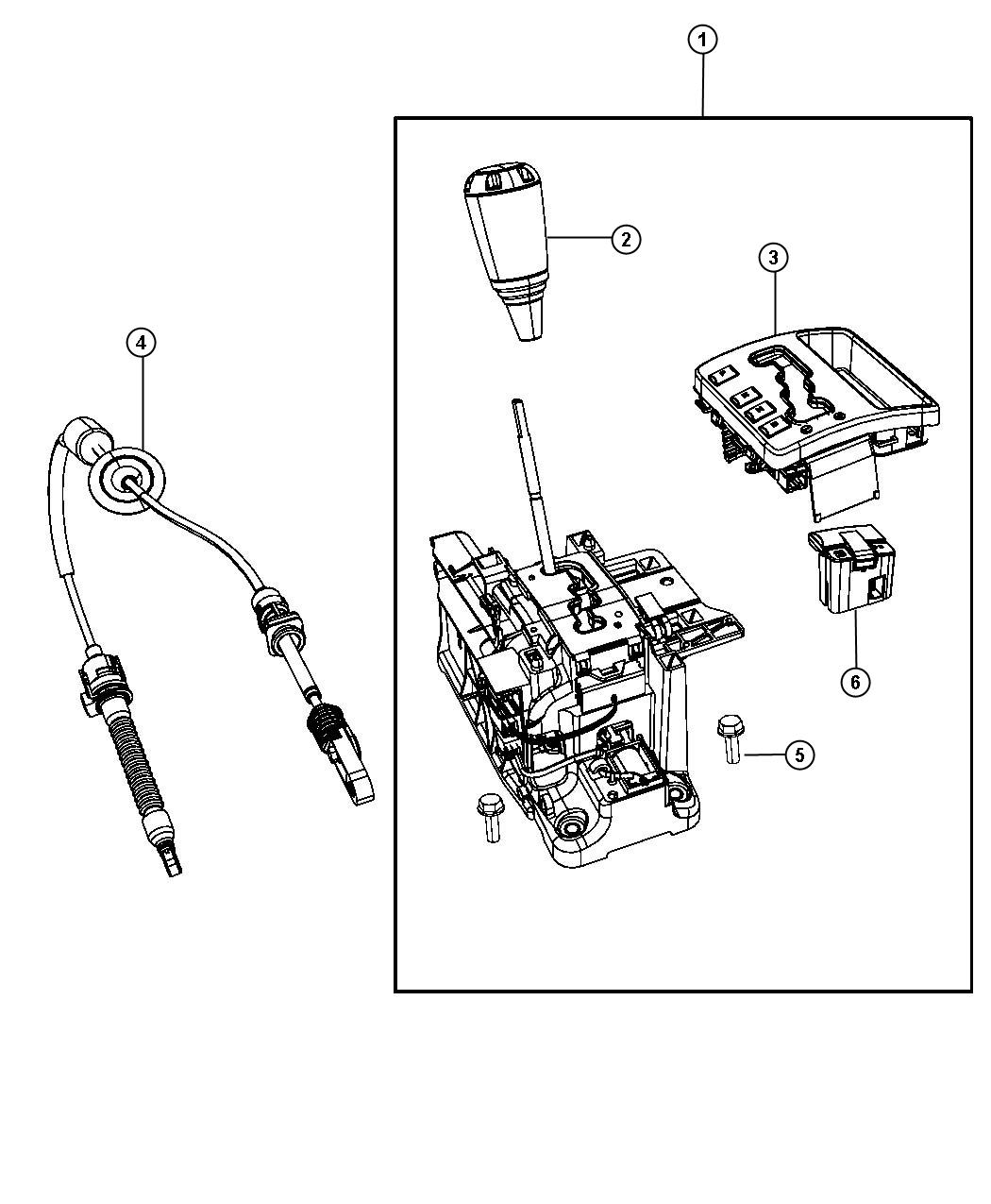 Jeep Grand Cherokee Used for: HOUSING AND LEVER. Shifter ...