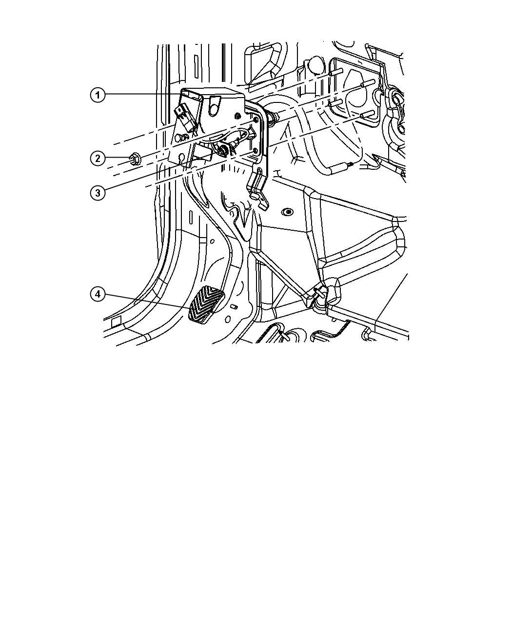 68028426AC - Jeep Pedal. Clutch. [6-speed manual aisin bg6 ...