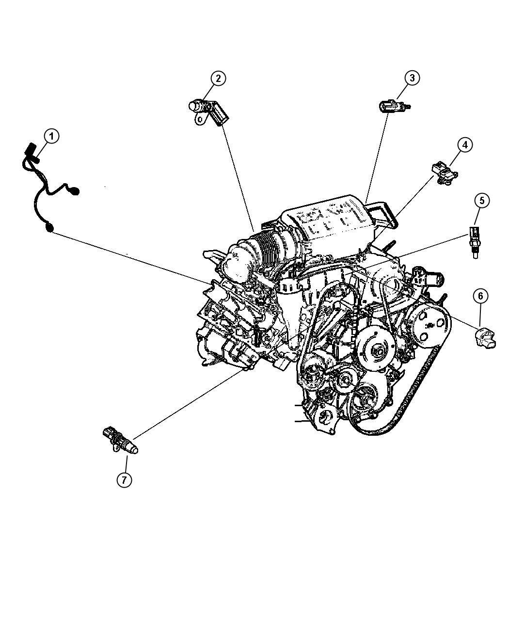 jeep grand cherokee sensor  camshaft  sensors  engine  gas