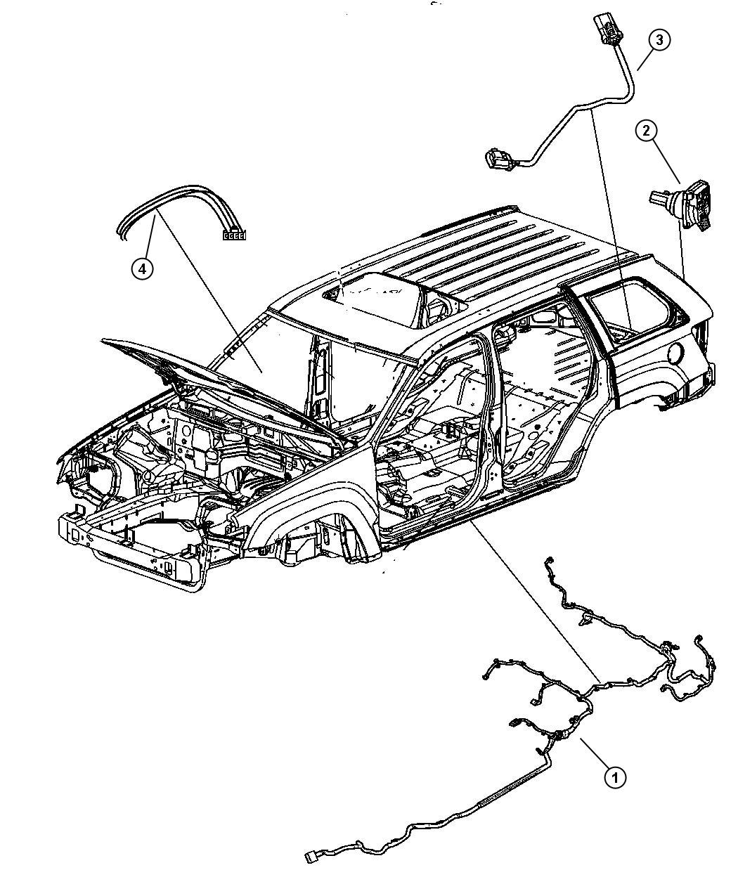 68040533AB  Jeep    Wiring    Underbody Ahx     aht     after   Jeep Parts Overstock  Atlanta GA