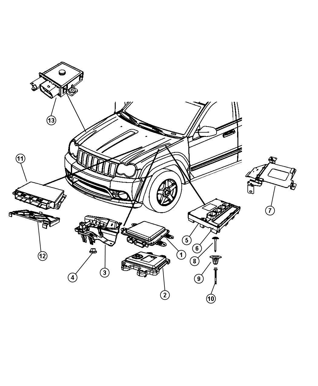 05150500aa jeep module powertrain control generic. Black Bedroom Furniture Sets. Home Design Ideas