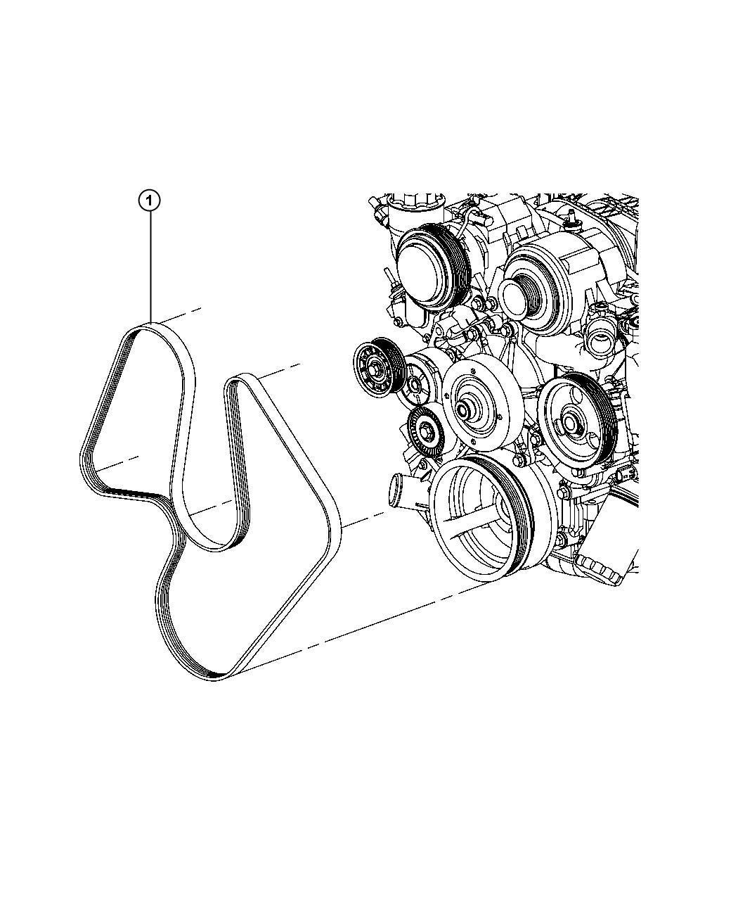 05184647AB - Jeep Belt. Serpentine. [electro-hydraulic ...