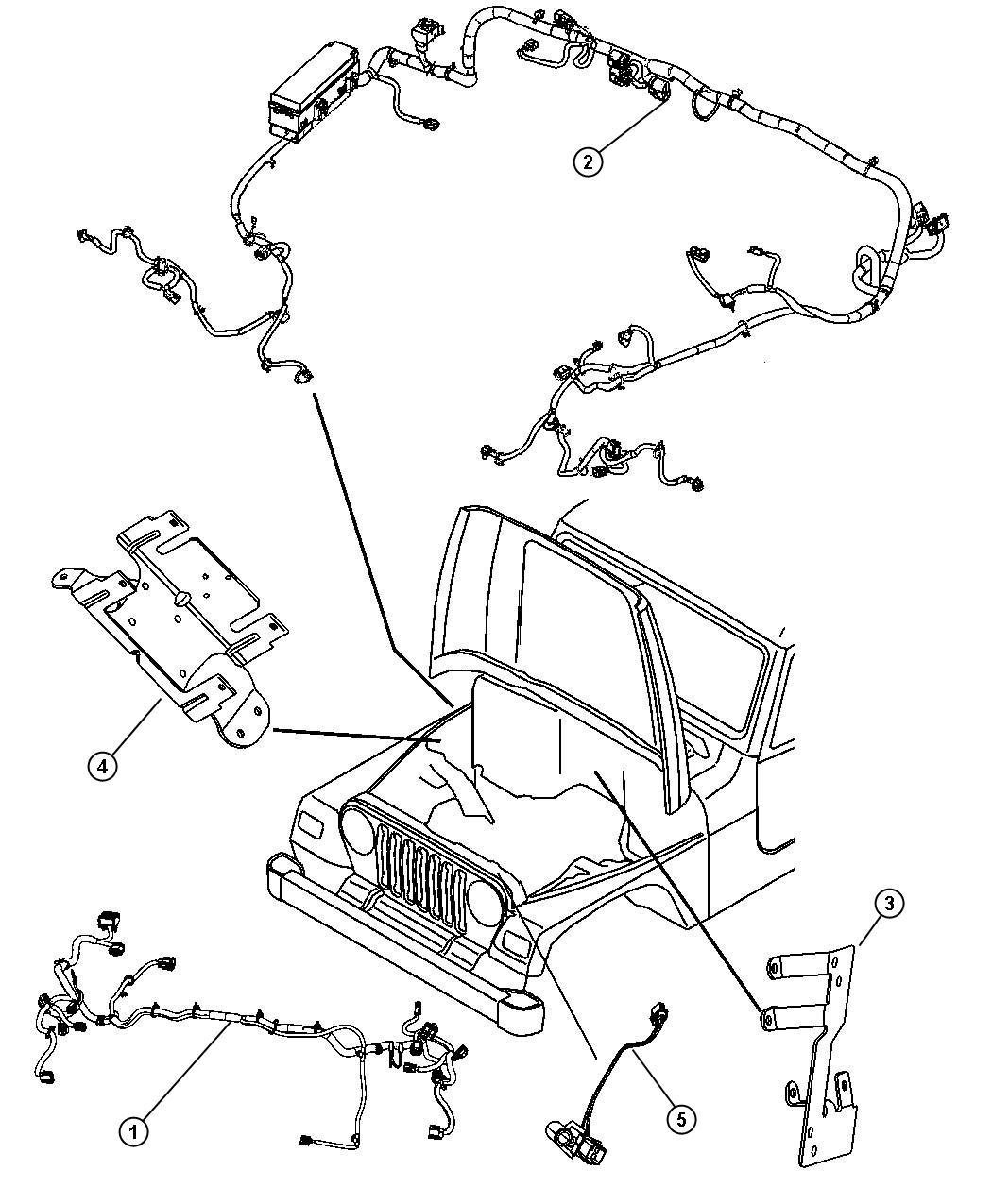 68054958AB - Jeep Wiring. Dash. Automatic transmission ...