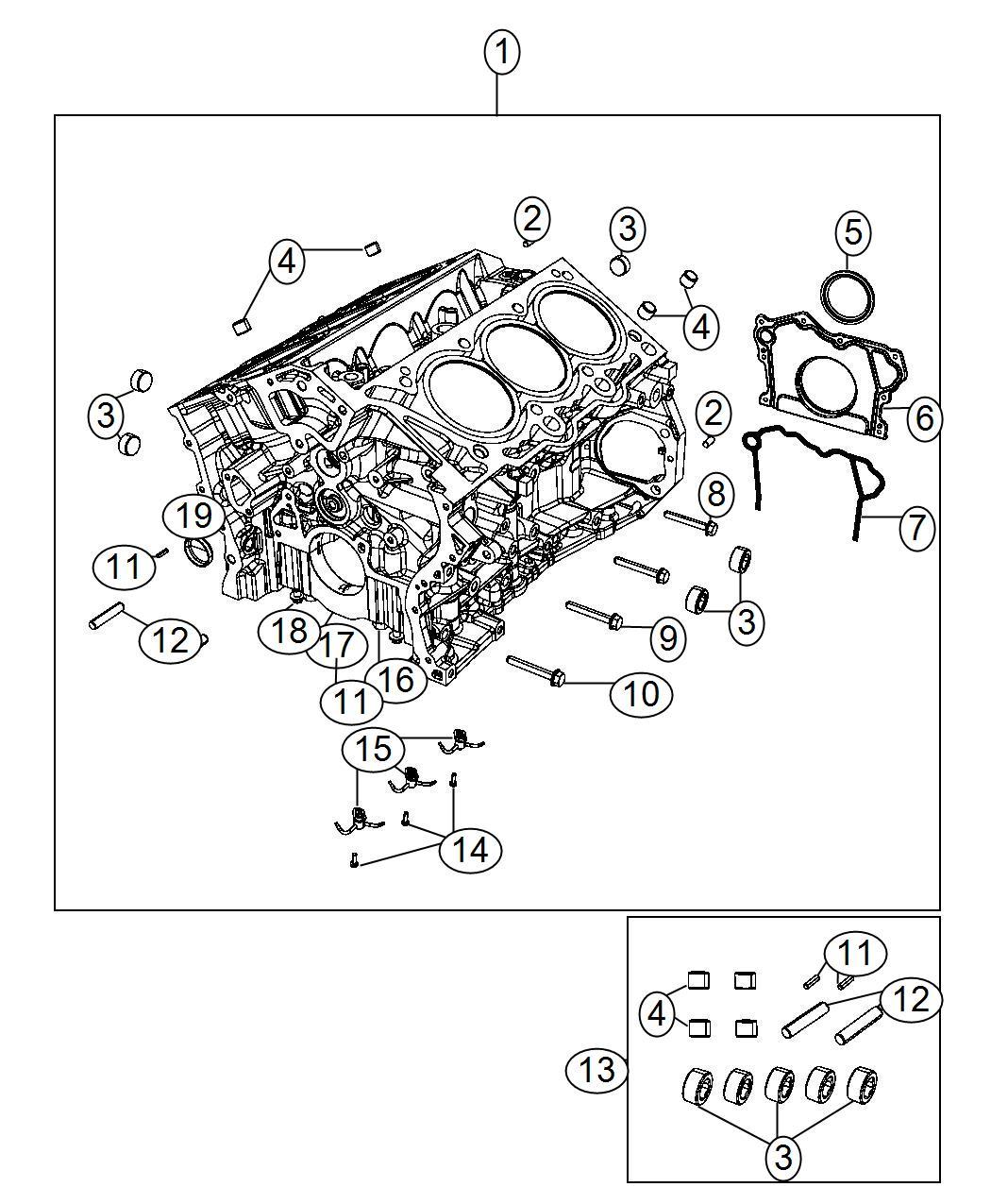 68225979aa jeep engine kit short block oil cylinder. Black Bedroom Furniture Sets. Home Design Ideas