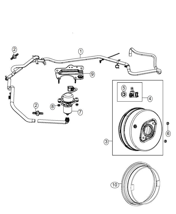 04581976AB - Jeep Hose. Brake booster vacuum. [3.0l v6 24v ...
