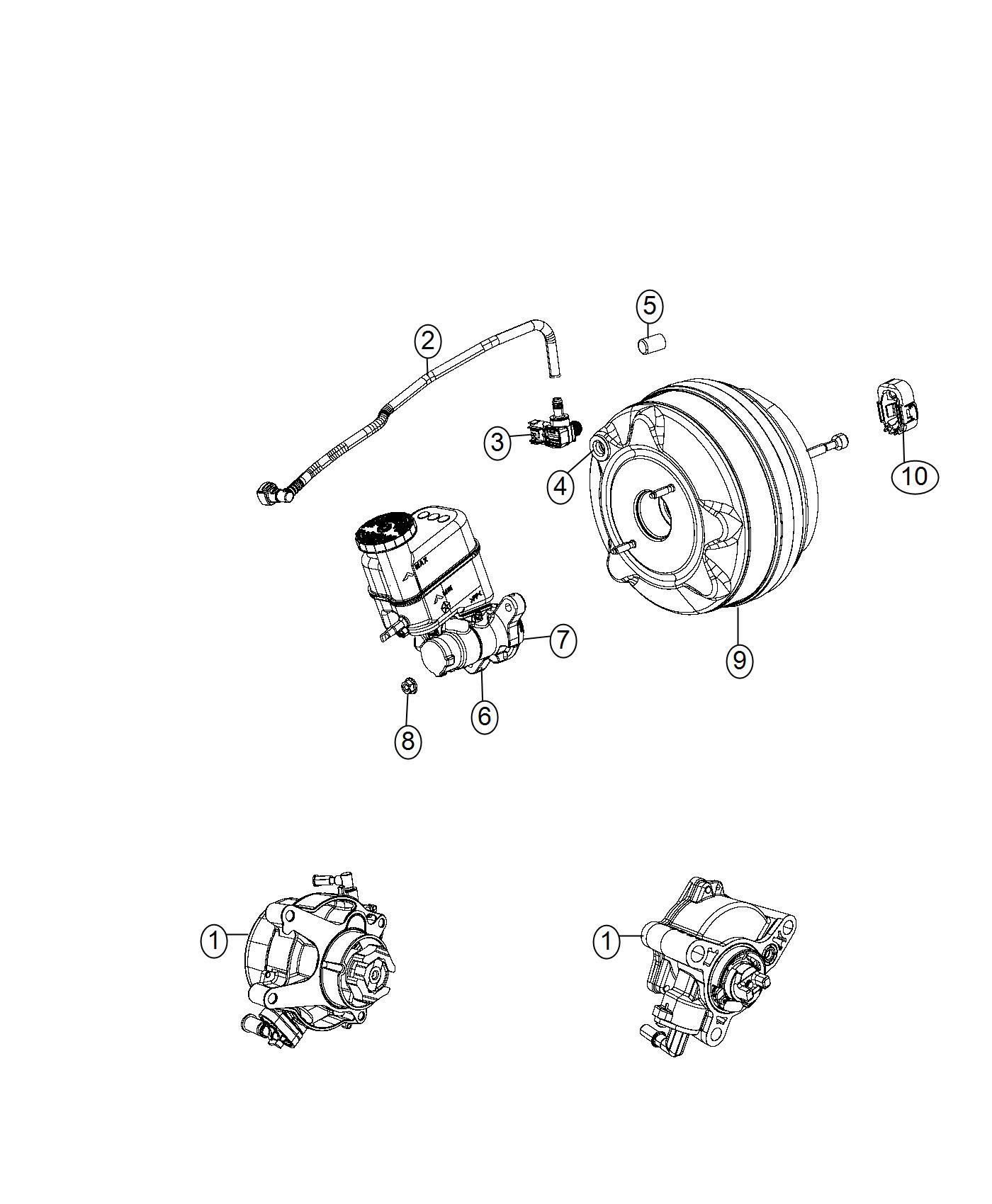 04581560AE - Jeep Hose. Brake booster vacuum. Pump, power ...