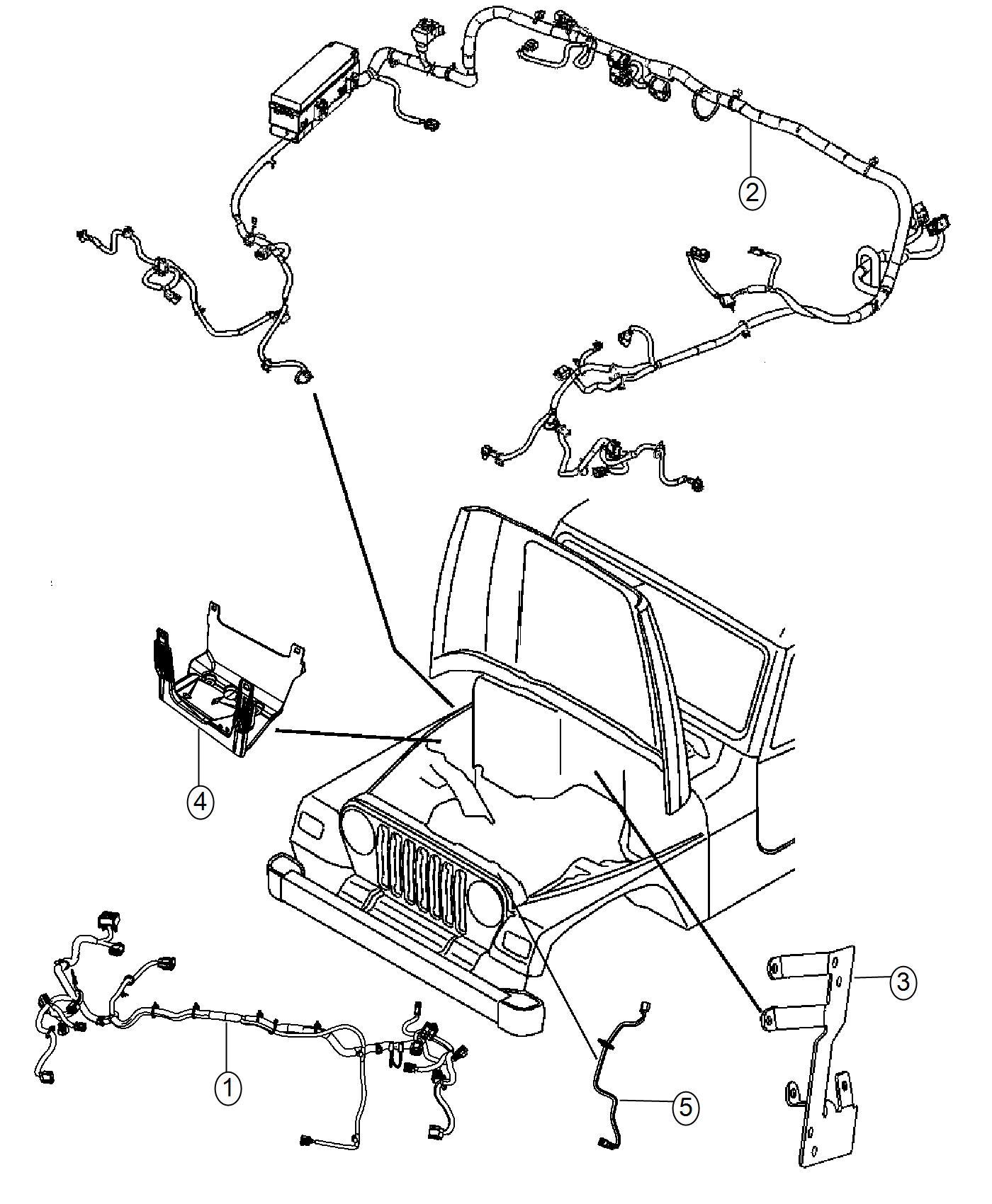 68274527AA  Jeep    Wiring    Jumper Side    marker    lamp Side