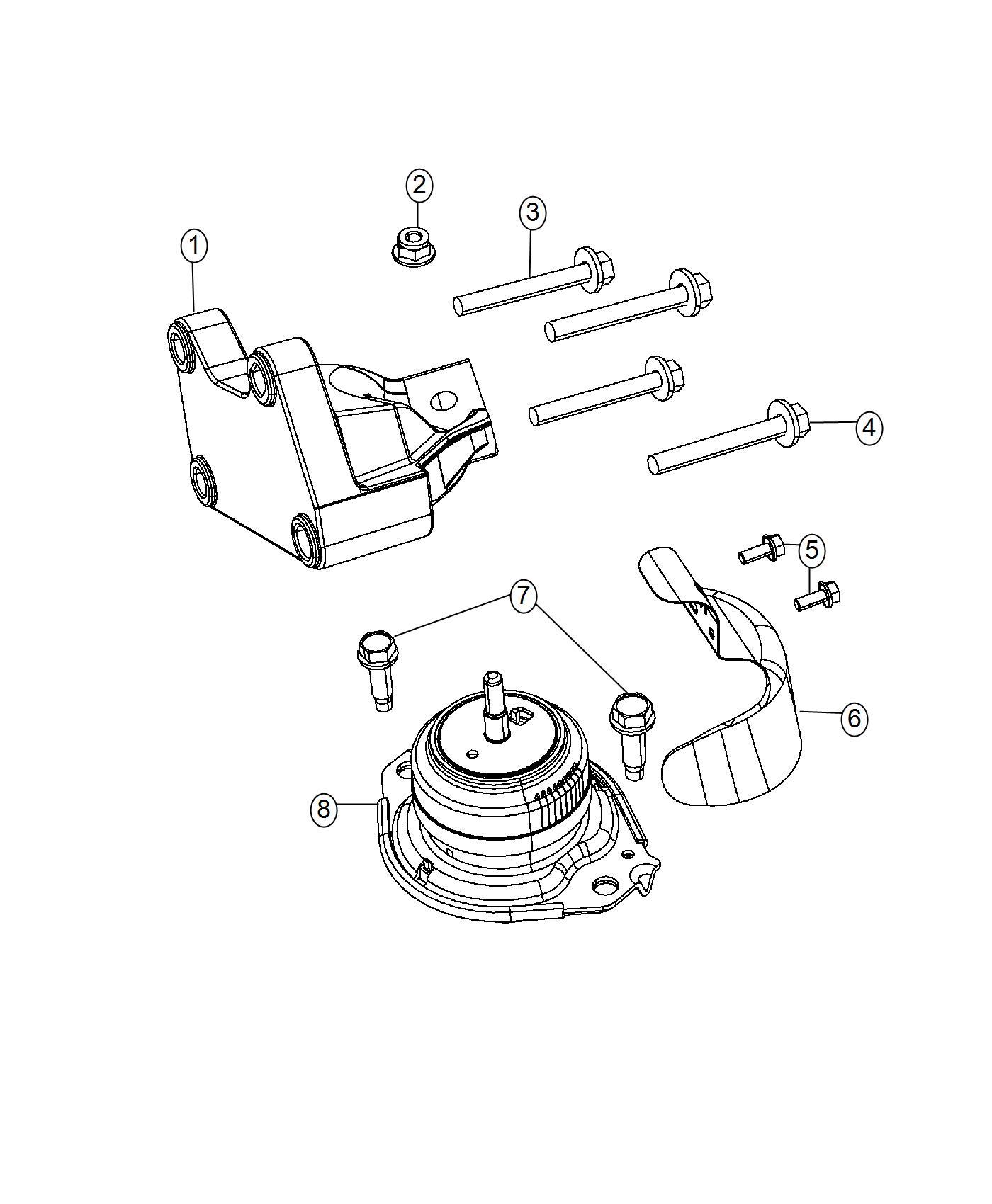 Jeep Grand Cherokee Heat Shield  Engine Mount  Right Side