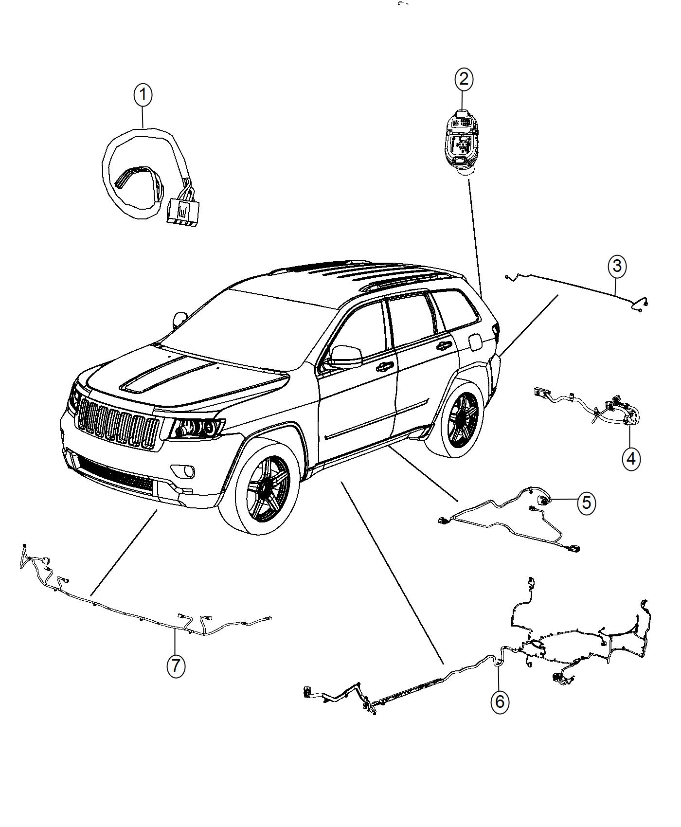 2017 Jeep Grand Cherokee Wiring  Front Fascia