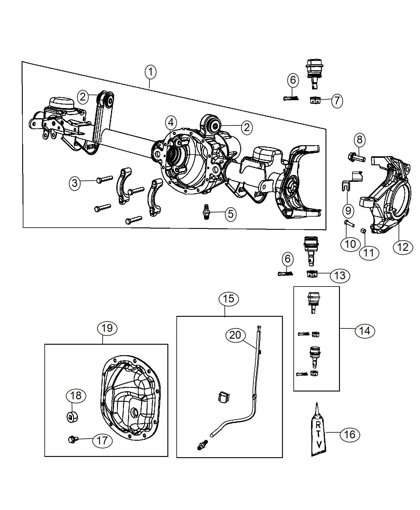 dana 30 jeep front differential diagram