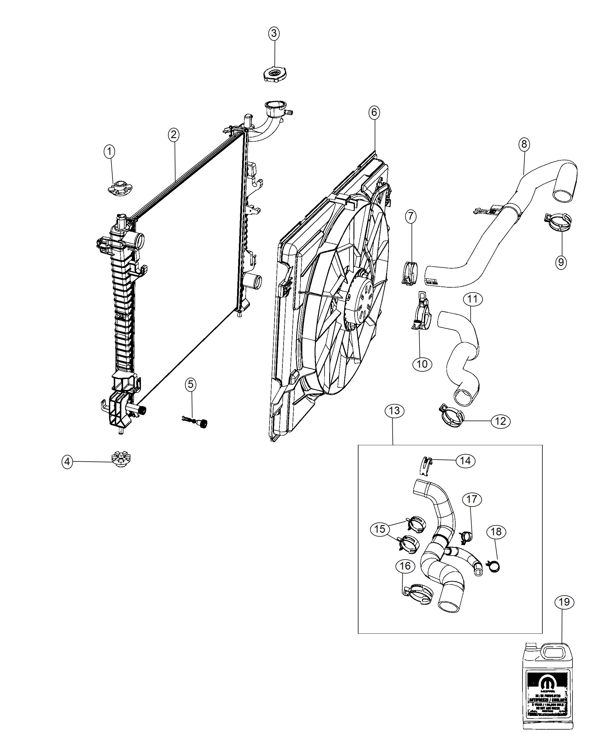 2018       Jeep       Grand       Cherokee    Cap Radiator  front end parts