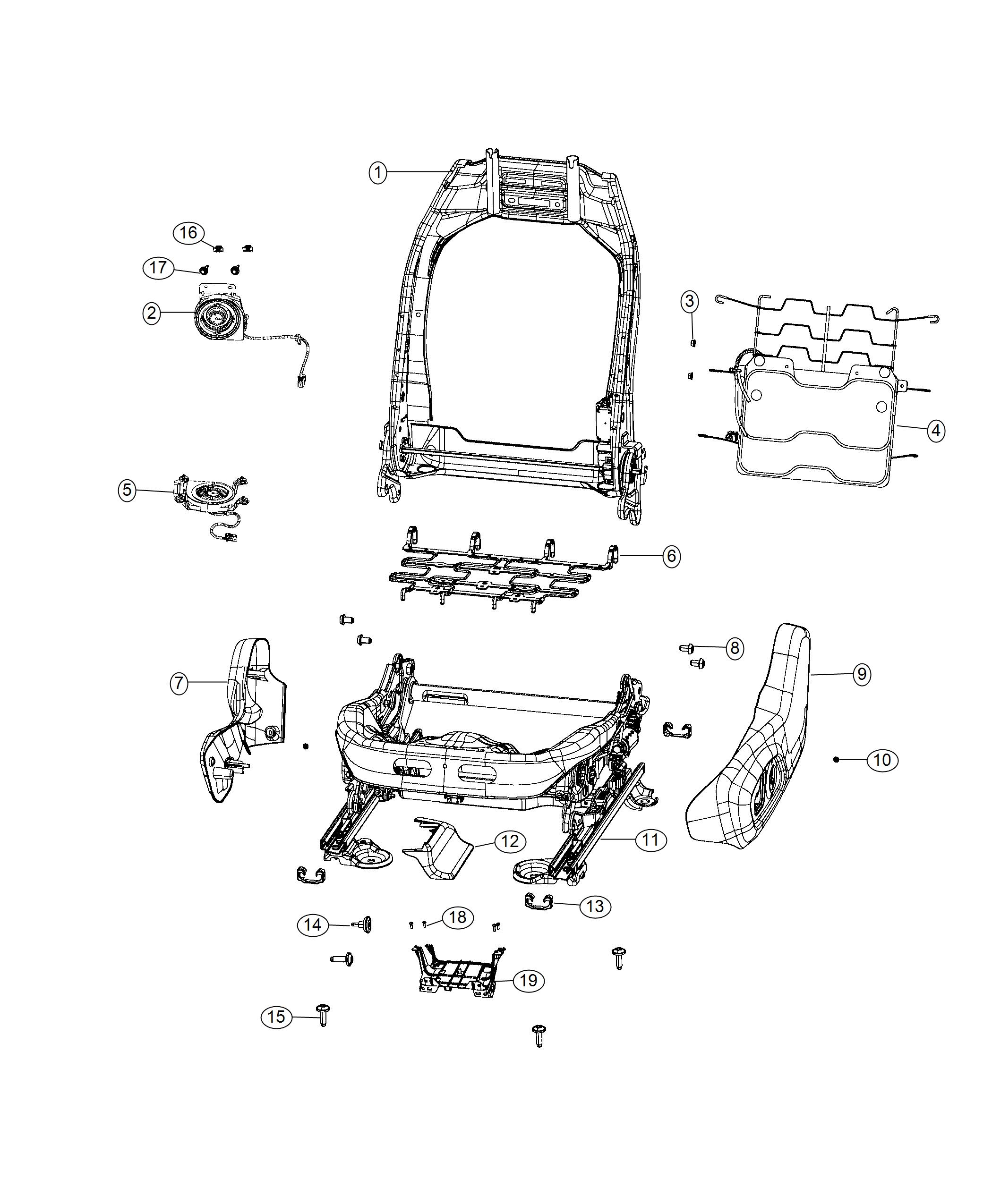 2019 Jeep Compass Adjuster  Power Seat