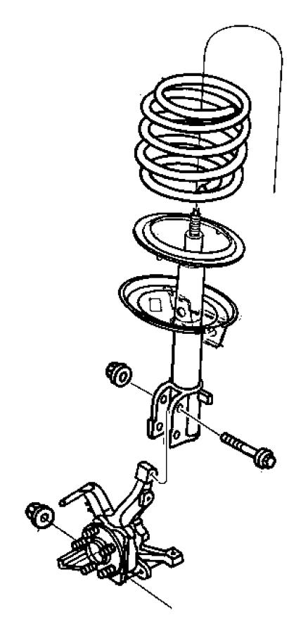 04797643 jeep damper strut front suspension sdb duty for Suspension sdb