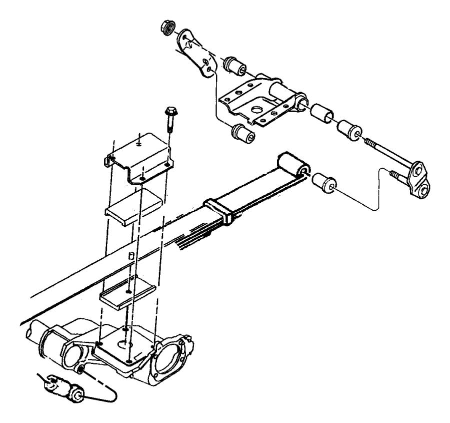 04684681ab jeep shock absorber suspension sda ser for Suspension sdb