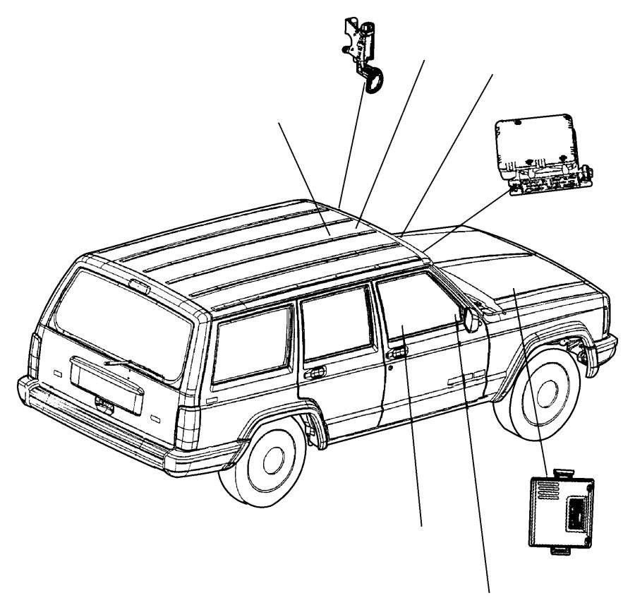 1986 jeep cherokee module  headlamp delay  trim   all trim