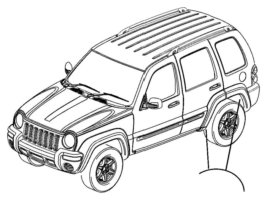 Jeep Liberty Applique  Rear Wheel Opening  Left   K5   Color   No Description Available