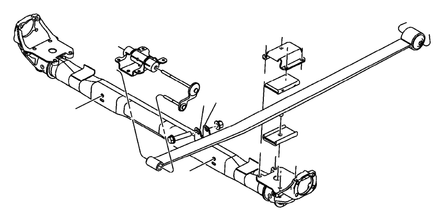 04743630ab jeep axle rear suspension sda sdb jeep for Suspension sdb