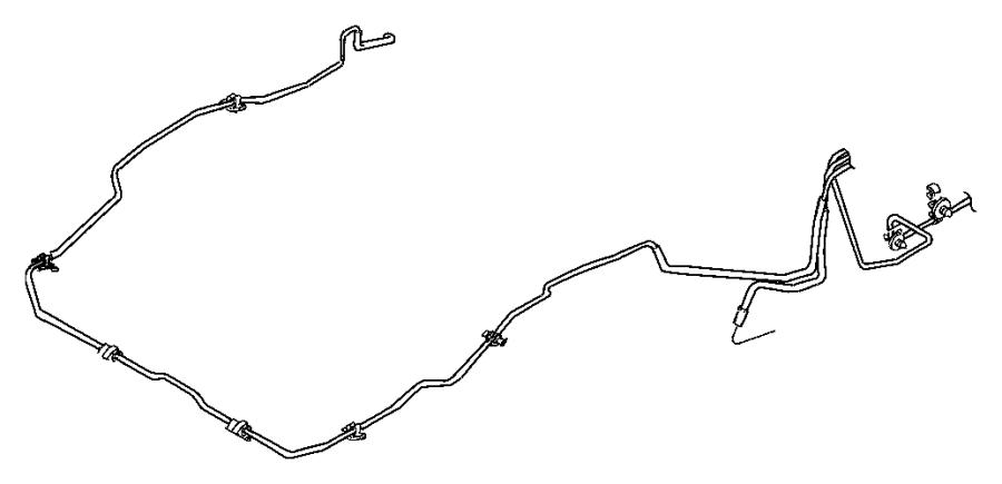 jeep cherokee clip  brake attaching tube  brake line  3 way  mounting
