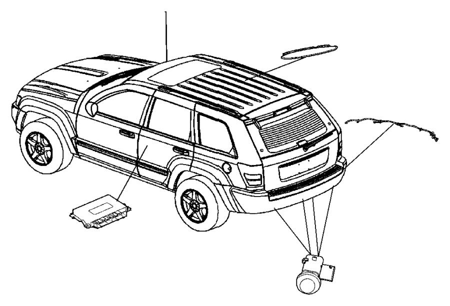 jeep commander module  parking assist  rear  system  parksense