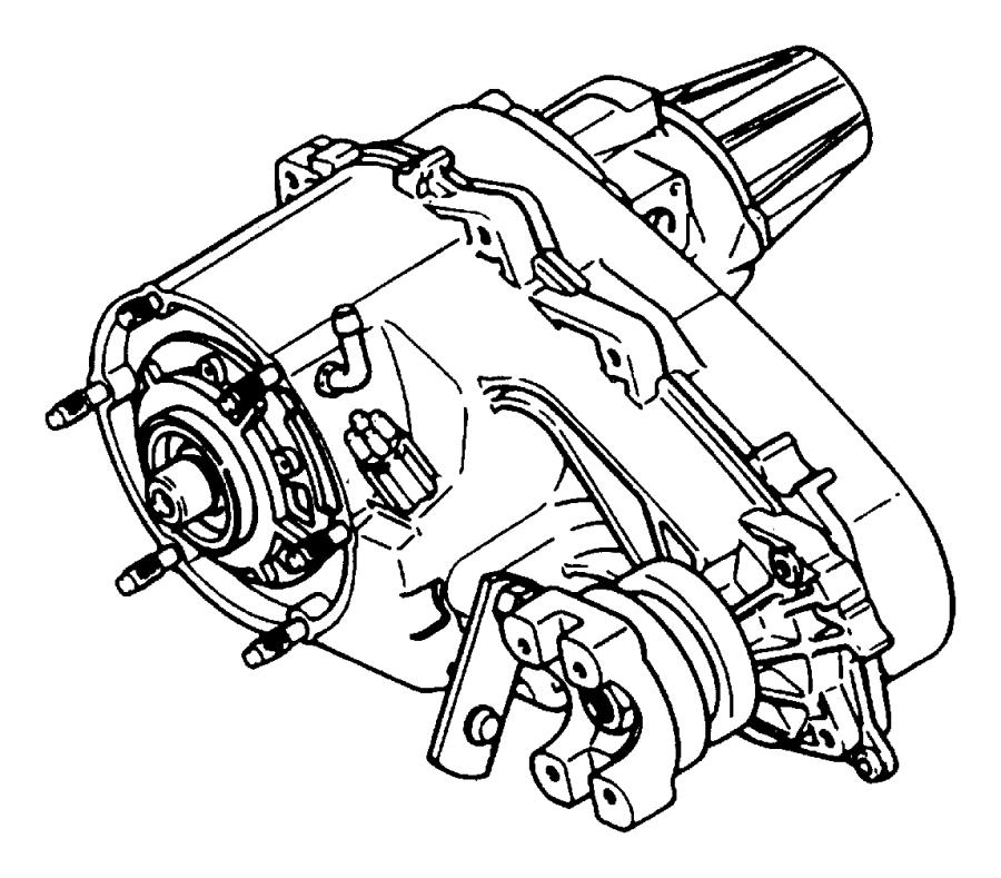 np241 transfer case diagram