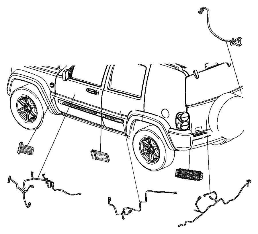 jeep patriot wiring  jumper  power door lock  handle