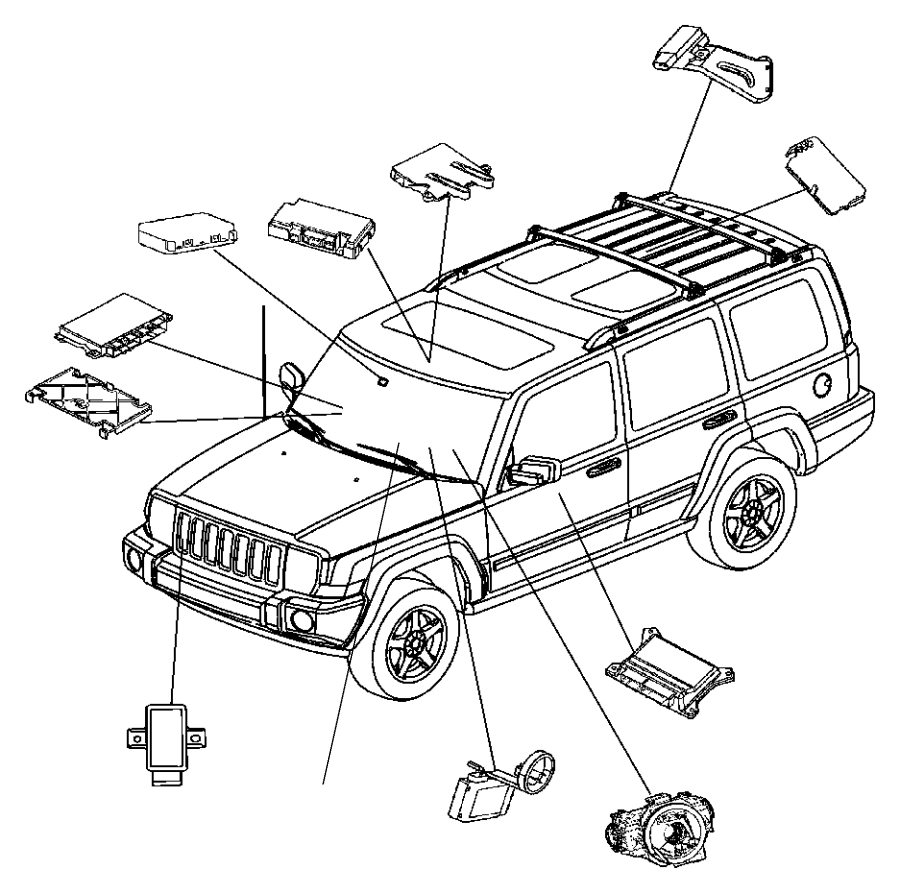 jeep grand cherokee receiver  control module  system