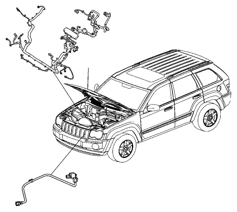 2007 jeep commander wiring  headlamp to dash    tire