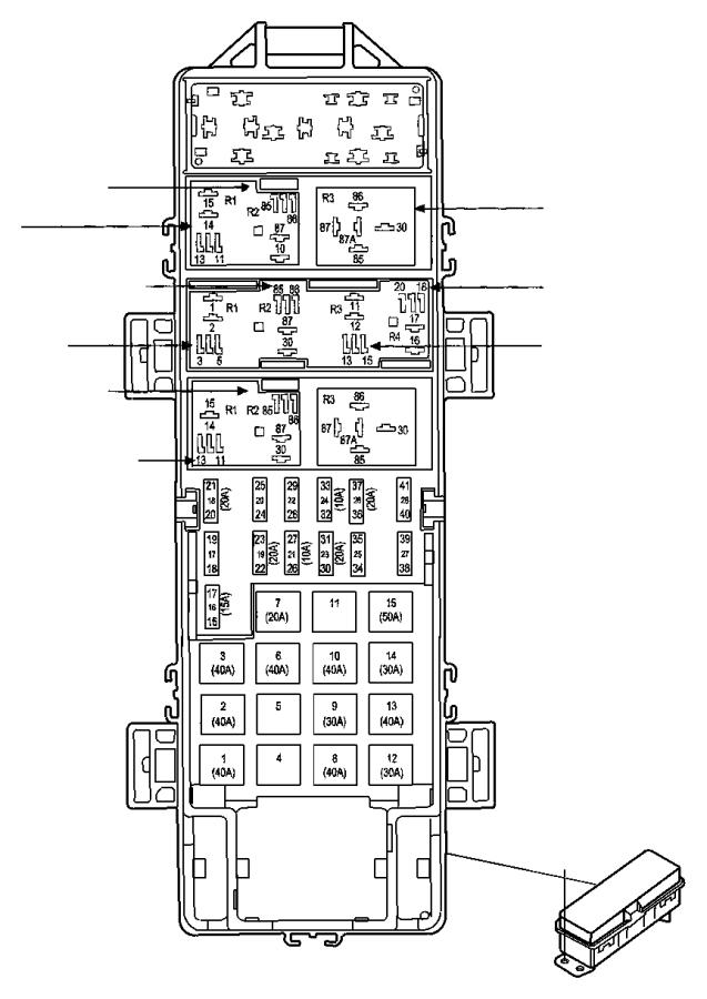 jeep liberty fuse cartridge 60 amp export tipm. Black Bedroom Furniture Sets. Home Design Ideas