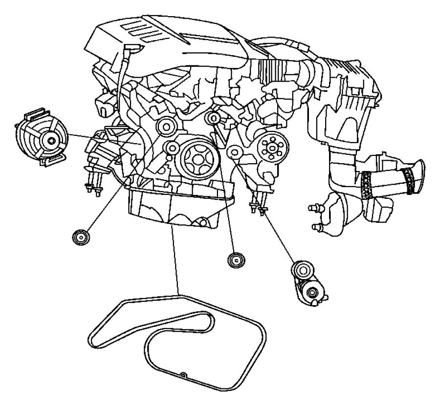 68040206aa jeep tensioner belt related diesel. Black Bedroom Furniture Sets. Home Design Ideas