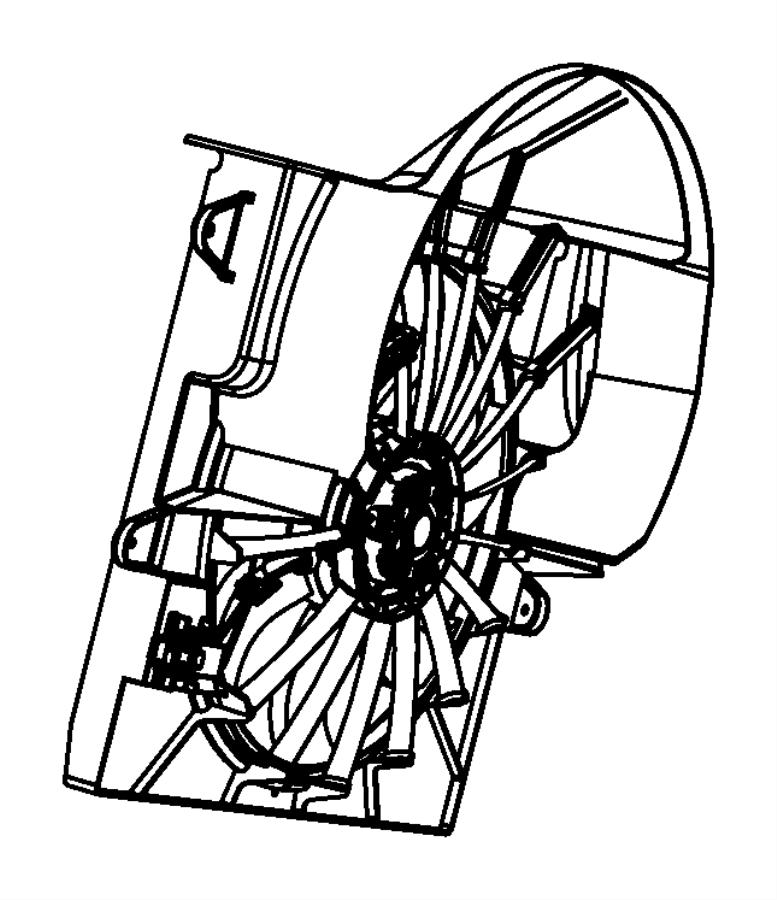 2009 jeep grand cherokee fan module  shroud module