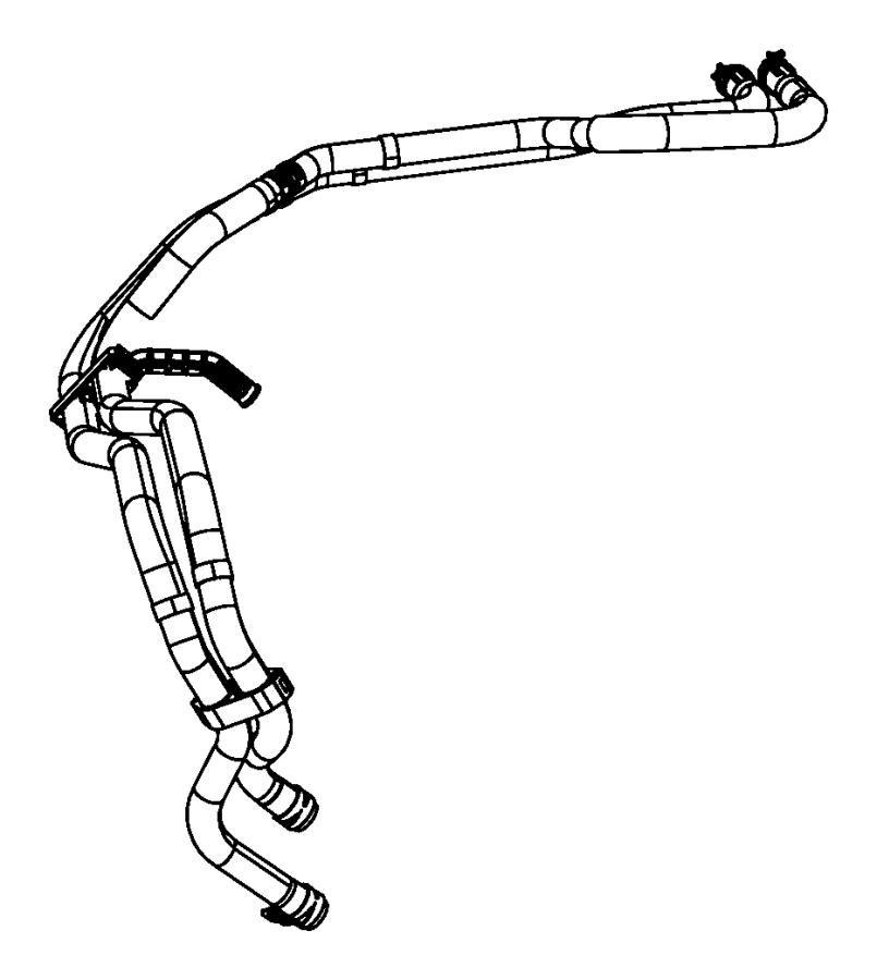 Jeep Liberty Hose  Used For  Heater Supply And Return