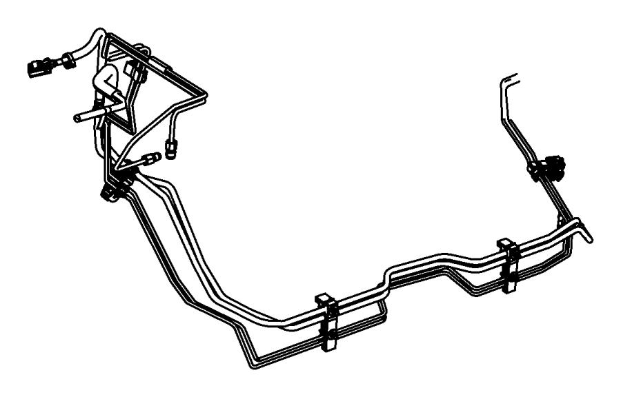 52124613ai Jeep Bundle Fuel Line Engine Ezh Vvt