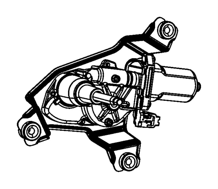 jeep grand cherokee motor  liftgate wiper   jhb   rear